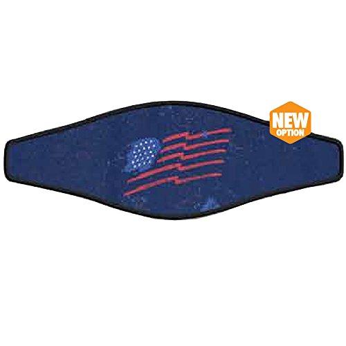 Innovative Scuba Mask Strap Wrapper (One Size, Patriotic American Flag)