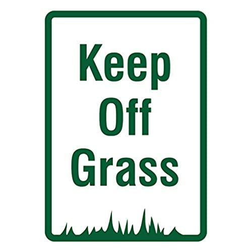 delicate Keep Off Grass Signs - Do Not Walk on Lawn Sign