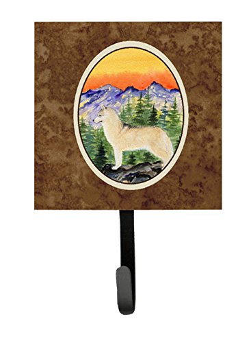 Caroline's Treasures SS8285SH4 Siberian Husky Leash Holder or Key Hook, Small, Multicolor - Siberian Husky Leash Holder