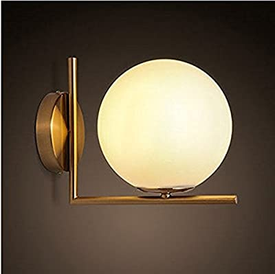 E12 Base in Globe Shape wall lamp, Contemporary Simplicity Industrial Metal based with Glass Material Shade of Wall lamp, Wall Sconce