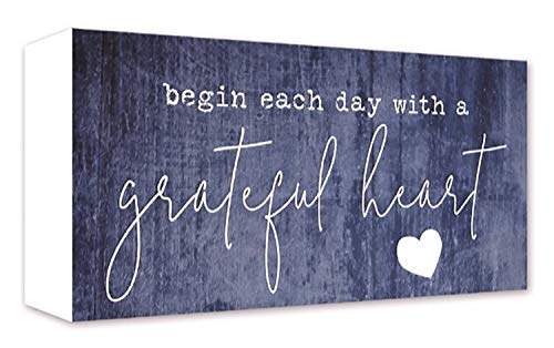 ReLive Decorative Expressions - Grateful Heart 5x10 Painted Wooden Sign