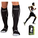 Premium Compression Socks For Recovery Featuring 15-20 mmHg. Relieve Soreness, Pain & Swelling. Ideal Diabetic, Plantar Fasciitis, Medical, Nurse, Running, Air Travel & Crossfit.