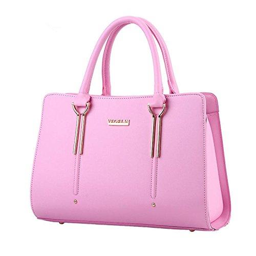 LDMB Bolsos para mujer Dulce señora moda hombro bolso de mensajero , purple taro Pink