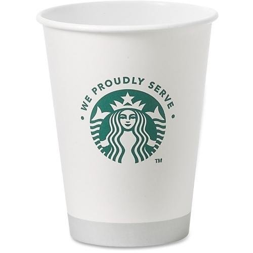 Starbucks Hot Cups, 12 oz., 1000/CT, White/We Proudly Serve (11033279)