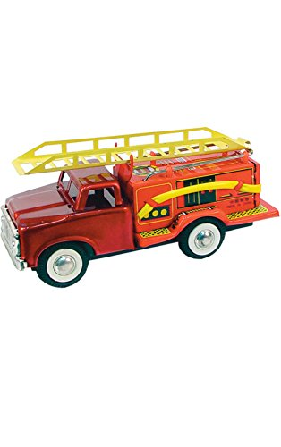 (Alexander Taron Importer JMF163 - Collectible Tin Toy - Fire Truck - 2.5