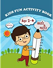 Activity Book for Kids: Over 72 Fun Activities For Kids Ages 2-6   Workbook Games For Daily Learning, Tracing, Coloring, Counting, Mazes, Matching, Word Search, Dot to Dot, and More