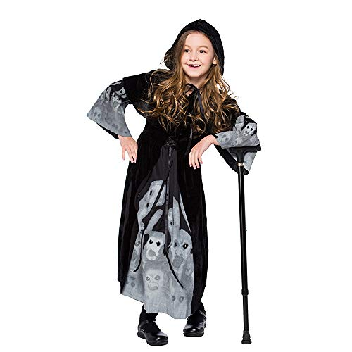 Two Face Girl Costumes - charmsamx Girls Witch Dress Halloween Luminous