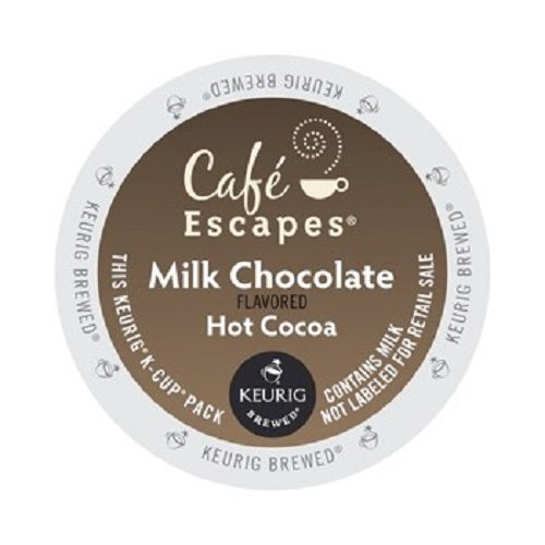 Traditional Hot Chocolate - Café Escapes Hot Cocoa, Milk Chocolate, K-Cup Portion Pack for Keurig Brewers, 24-Count (Pack of 2)