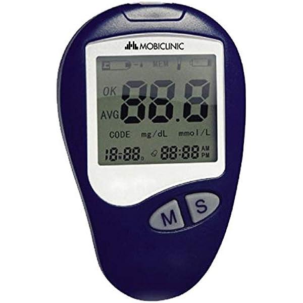 Glucómetro digital, Medidor de glucosa en sangre, Función memoria, Mobiclinic: Amazon.es: Salud y cuidado personal
