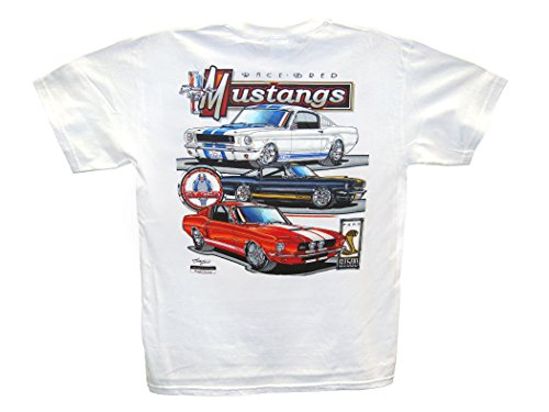 Hot Shirts Race Bred Mustang/True Horses T-Shirt: X-Large - Ford Boss Shelby GT GT350 GT500 Pony