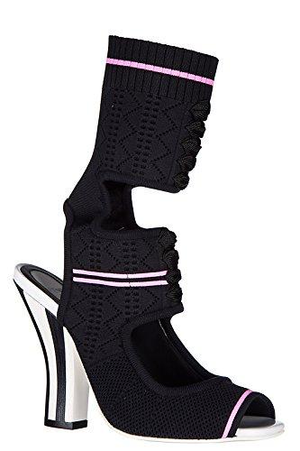 Fendi sandali donna con tacco nero