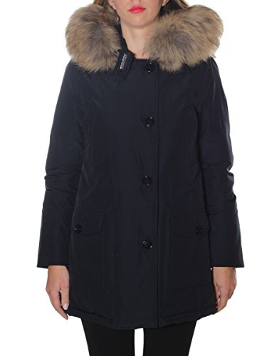 Donna Woolrich Wwcps2479cn03dkn Cappotto Blu Cotone Rx800qw5a