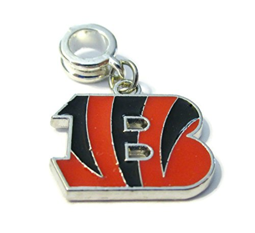 CINCINNATI BENGALS OFFICIALLY LICENSED CHARM WITH CONNECTOR (Bengals Charm Cincinnati)