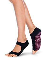Yoga Socks for Women, Toeless Non Slip Skid Grip Sock - Sports, Barre, Ballet, Dance