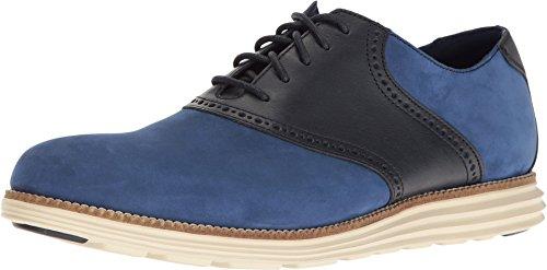 Cole Haan Men's Original Grand Saddle II Rainstorm Leather/Navy Ink/Ivory Shoe
