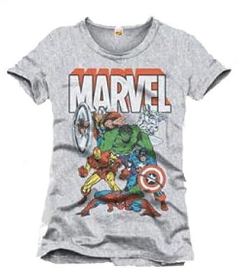 Marvel Tshirt Homme The Avengers - Legend Icon - XL, Gris ...