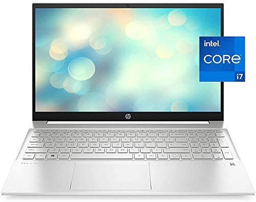 "2021 Newest HP Pavilion 15 Laptop, 15.6"" HD IPS Micro-Edge Display, Intel Core i7-1165G7, Intel Iris Xe Graphics, 16GB DDR4 RAM, 512GB PCIe SSD, Backlit Keyboard, Fingerprint Reader, Win 10 Home"