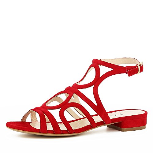 Evita Shoes SALVINA Sandale Femme Daim Rouge