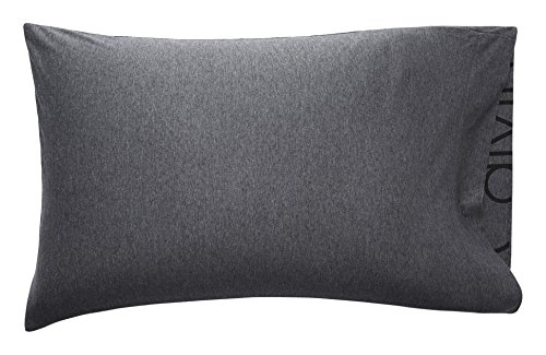 Calvin Klein Home Modern Cotton Body Standard Pillowcase Pair, Charcoal, 2 Piece Calvin Klein Standard Blanket