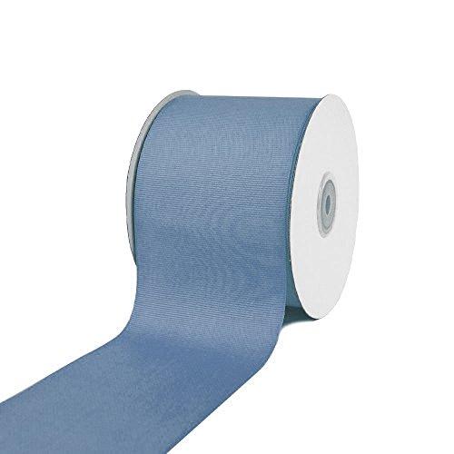 Ben Collection 3 Inch X 25 Yard Grosgrain Plain Ribbon Party, Wedding Favor Crafting Ribbon (Antique Blue)