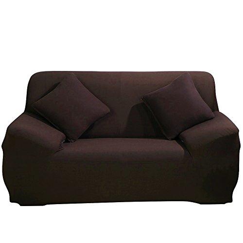 ParaCity elástico funda para silla 2 plazas tela funda protectora pantalla sillón funda protectora, café, 2 seater:140-185cm