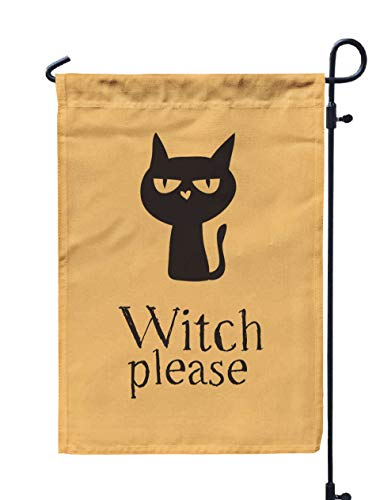 Shorping Garden Flag Stand, 12x18Inch Drawn Witch Black