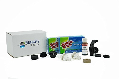 Berkey Maintenance Kit for Stainless Steel Units - Includes FREE Trouble Shooting Booklet and Red Dye by Berkey