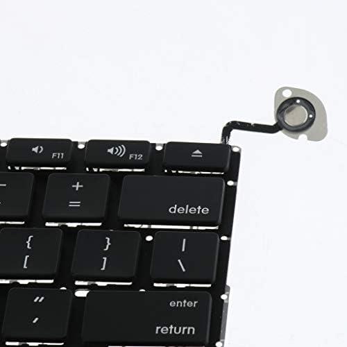 D DOLITY Portátil Ordenador Portátil Teclado EE. UU. para Apple MacBook Pro 13 Pulgadas A1278 2008-2013 4