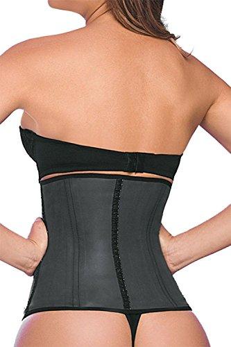 Ann Chery - Corset de Latex Clásico, Corset Adelgazante para Mujer 2025 (XL - Cintura 33 Pulgadas, Negro)