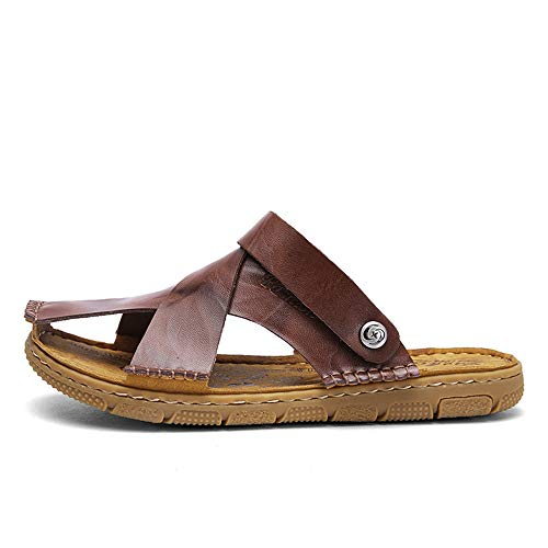 Deportivas de de Libre Pescador Zapatos Agua de Sandalias al Zapatos de para de Aire Zapatos Cuero Brown Playa Sandalias Cerrados Verano Hombre qcSgnOqd