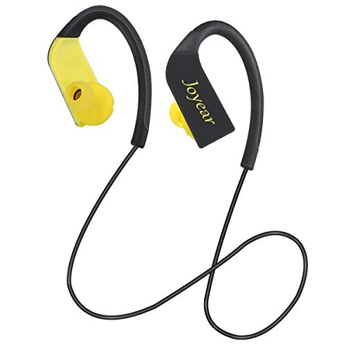 Bluetooth headphones Joyear waterproof bluetooth headphones wireless sports earphones with mic earbuds with touch panel HD stereo for men gym running workout headsets with earhook(black)