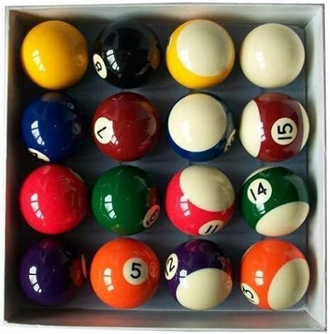 E-Service - Juego de bolas de billar de 5 cm con bola de 1 7/8 ...