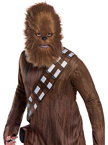 Adult Chewbacca Mask - Rubie's Unisex-Adults Star Wars Classic Chewbacca Mask With Artificial Fur, As Shown, OneSize