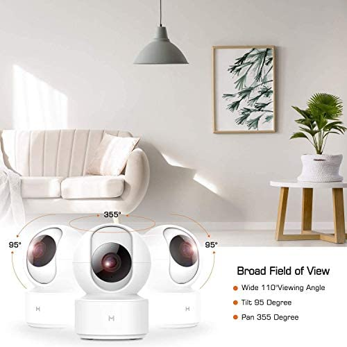 1080P Wireless Smart Home Indoor Baby IP Security Camera IMILAB,2.4Ghz WiFi Surveillance Dome Camera Pet Nanny Monitor with Two-Way Audio,HD Night Vision,Pan/Tilt,Remote View Support Max 256GB SD… 41wIKhrqoWL