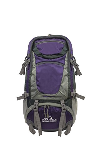 Cheap American Outback Fuji Internal Frame Hiking Backpack, Purple, 30 L