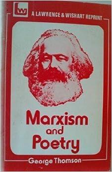 Αποτέλεσμα εικόνας για marxism and poetry thomson