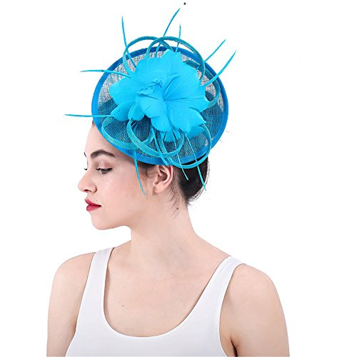 cc380c1394dbc Cocktail Tea Party Headwear Ladies Fascinator Formal Hat Hatinator for  Wedding Prom Cocktail Party Weddings Races