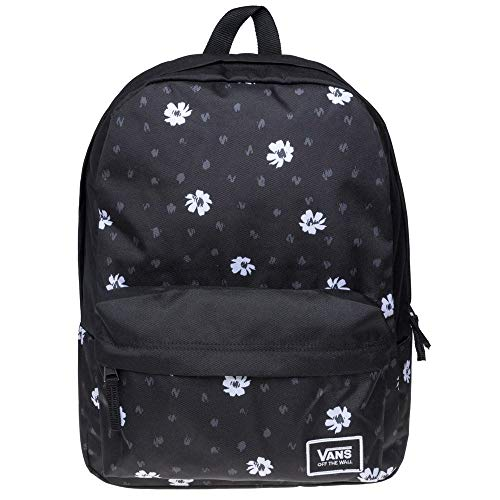 VANS Realm Classic Backpack Black Abstract Daisy Schoolbag VN0A3UI7YDN Vans (Classic High Daisy)