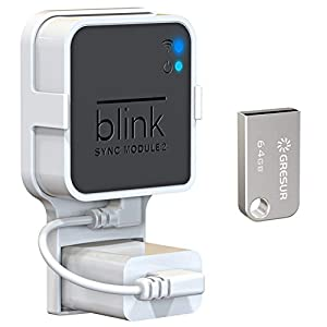 Best Epic Trends 41wILaq-yiL._SS300_ 64GB USB Flash Drive and Wall Mount for Blink Sync Module 2, Space Saving Mount Bracket Holder for All-New Blink Outdoor…