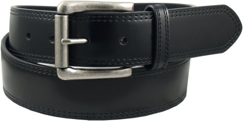 Dickies Men's 1 9/16 in. Bridle With Double Row Stitch Belt,Black,32 ()