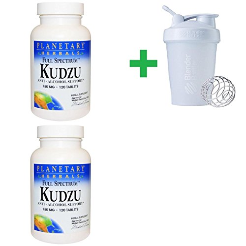 (Planetary Herbals, Full Spectrum Kudzu, 750 mg, 120 Tablets (2 PCS)+ Assorted Sundesa, BlenderBottle, Classic With Loop, 20 oz)