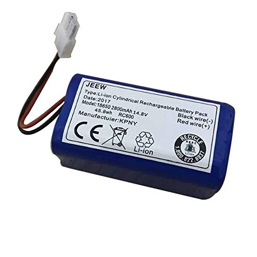 CRutchField 14.8V 2800mAh Robot Vacuum Cleaner Battery Pack Replacement for chuwi ilife v7 V7S Pro Robotic Sweeper 1PCS by CRutchField