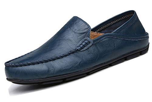 Lapens Men's Casual Flat Loafers Fashion Slip On Driving Shoes