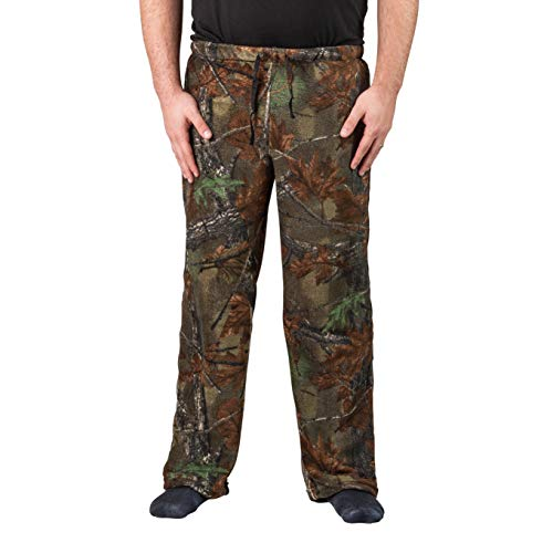 TrailCrest Men's Ultra Soft Coral Fleece Camo Lounge Pajama Pants - Sleepwear, 2X