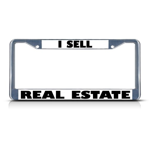 Fastasticdeals I Sell Real Estate License Plate Frame Tag Holder Cover