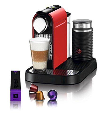 Nespresso C121-US4-RE-NE1 Espresso Maker with Aeroccino Milk Frother, Red
