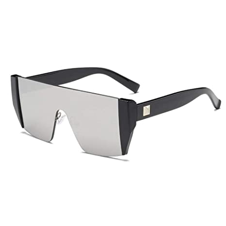 Yangjing-hl - Gafas de Sol sin Montura, Reflective Black ...