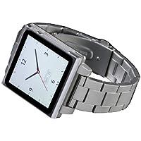 HEX HX1026-SLVR Vision - Banda de reloj de metal para iPod Nano 6G (Plateado)