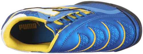 Puma Powercat 3.10 Elektro TT Jr - Zapatillas de Fútbol Unisex Niños Blau/skydiver-white-dandelion