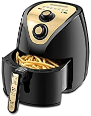 Black+Decker AF250G-B5 Air Fryer with Rapid Air Covection Technology, 2.5 Liter, 800 g - Black and Gold